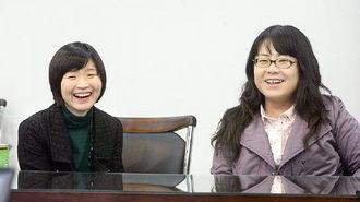이람(33) 엔에이치엔 네이버 테마매니저(왼쪽)와 박지영(31) 에스케이커뮤니케이션즈 서비스혁신 그룹장(오른쪽)