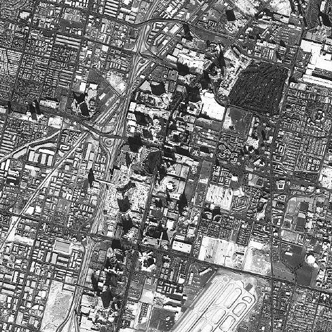 아리랑2호가 찍은 미국 라스베가스 위성 영상.