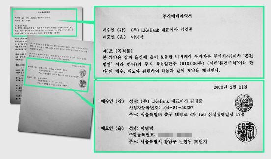 에리카 김이 공개한 한글판 계약서