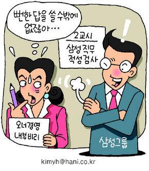 삼성 입사문제 '충성도' 검증?