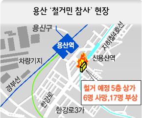 용산 '철거민 참사' 현장