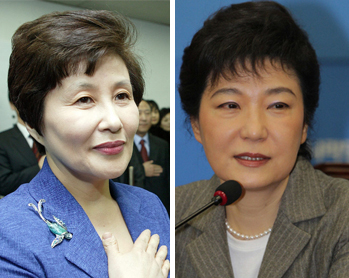 전여옥 국민생각 대변인과 박근혜 새누리당 비상대책위원회 위원장