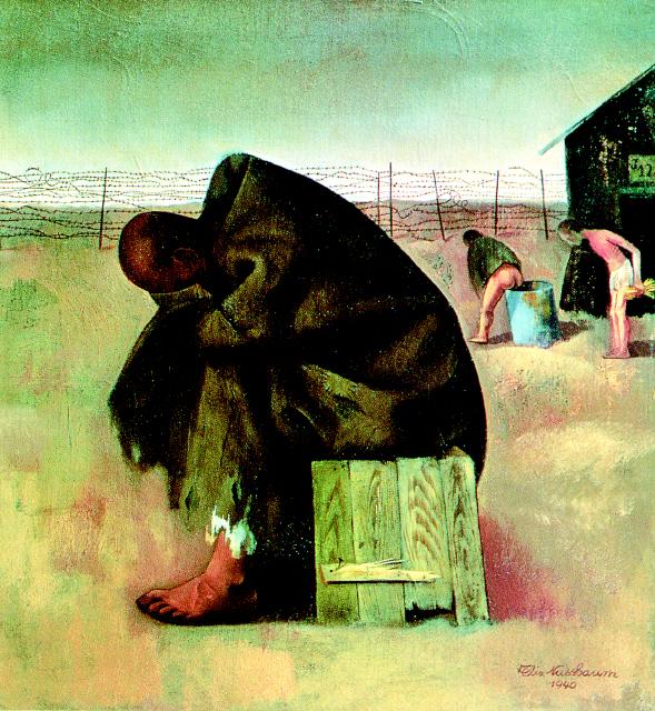 """""""고문당한 자는 두 번 다시 이 세상과 친숙해질 수 없다. 굴욕은 사라지지 않는다. 첫 일격으로 이미 상처받고 고문당하면서 무너져 간 세계에 대한 신뢰를 두 번 다시 되살릴 수 없다."""" 그림은 아우슈비츠 수용소에서 생을 마감한 독일 초현실주의 화가 펠릭스 누스바움(1904~44)의 작품 '수형자'. 길 출판사 제공"""