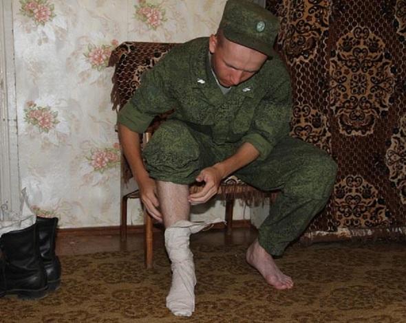 러시아 군인의 필수품 발싸개.  사진 출처 위키피디어