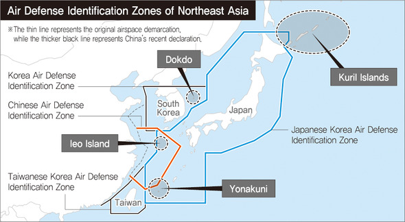 The history of air defense identification zones in Northeast