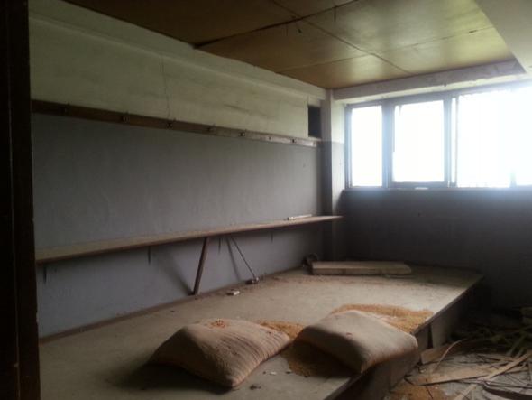 동두천시 소요산 입구에 폐허로 방치돼 있는 낙검자 수용소의 내부 모습. 허재현 기자