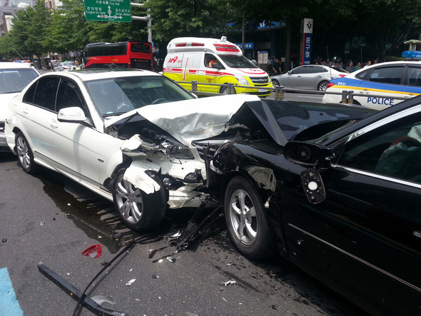 교통사고 현장. 한겨레 자료 사진