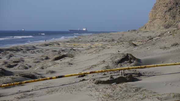 사비아는 해상에서 뽑은 기름을 파이프라인로 육지에 보내고 있지만 기름 처분권은 페루 정부에 있다. 탈라라/최현준 기자 haojune@hani.co.kr