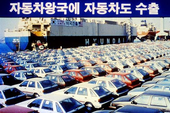 Photo] S  Korea's first car and bus exports : Business
