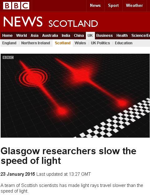 인류 사상 처음으로 빛의 속도를 늦췄다