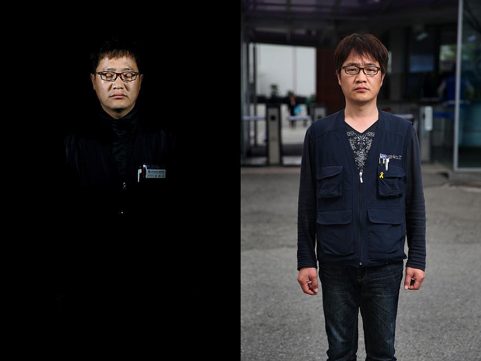 쌍용차 해고노동자 김남오씨는 복직 싸움을 위해 생계를 접었다. 박종식 기자 anaki@hani.co.kr