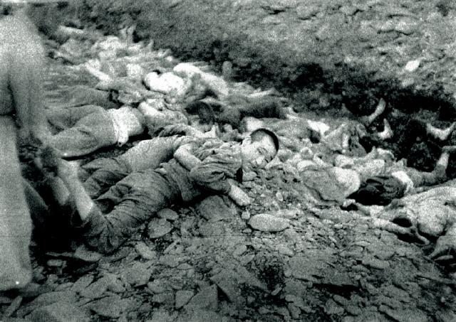 문양자씨의 아버지가 돌아가시기 직전 찍힌 것으로 보이는 학살현장의 사진.