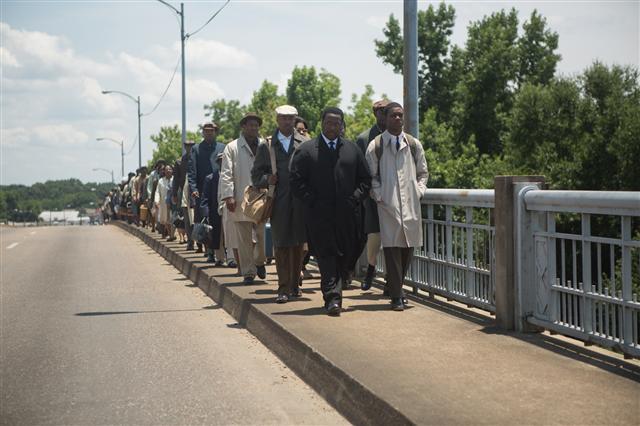 킹 목사·셀마 행진 다룬 영화 '셀마'의 한 장면.