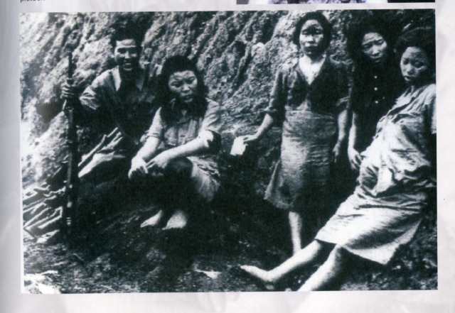 1945년 중국과 버마 국경 부근에서 연합군에게 발견된 조선인 일본군 '위안부'들. <한겨레> 자료사진