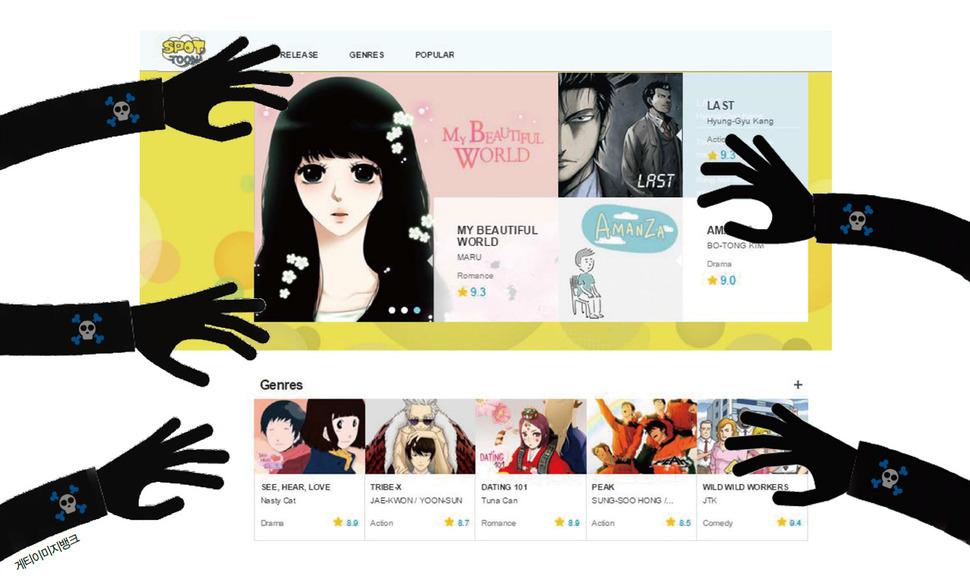 Waves of overseas piracy threaten Korean webtoon boom