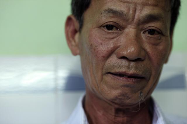 '빈안학살'의 생존자 응우옌떤런씨. 사진 조우혜 프리랜서 사진가