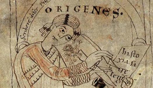 알렉산드리아학파의 대표자 오리게네스.그리스도교 역사상 가장 예민하고 대담한 정신의 소유자 중 한 사람이었던 오리게네스는 2000권이 넘는 저술을 남기고 박해의 후유증으로 사망했다.