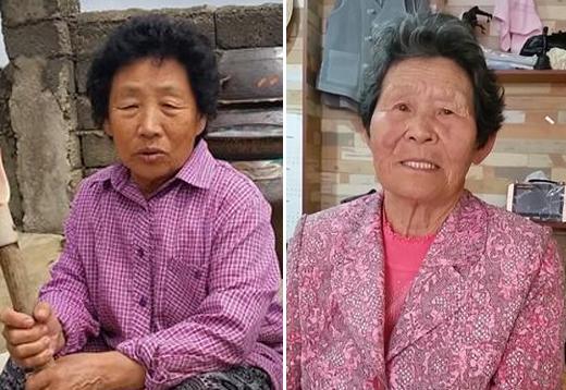 지난 6일 전남 해남에서 만난 심복례(74)씨가 80년 5·18 때 남편이 사망한 뒤 살아온 인생을 이야기하고 있다.(사진 왼쪽) 80년 광주에 침투한 북한 특수군으로 날조된 김 진순(86)씨가 지난 6일 전남 목포에서 만나 그동안의 분노를 털어놓고 있다.(오른쪽)