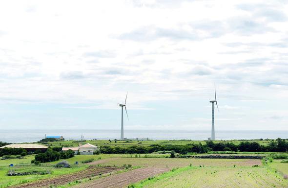 вид на ветряки на Гапа