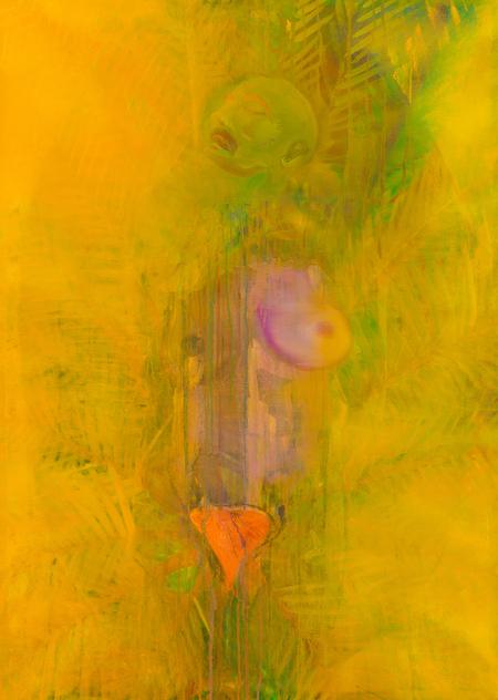 <퇴폐 미술전> 전시작_ 오용석, 빛나는/빛 Shining 91×65㎝ oil on canvas 2016.