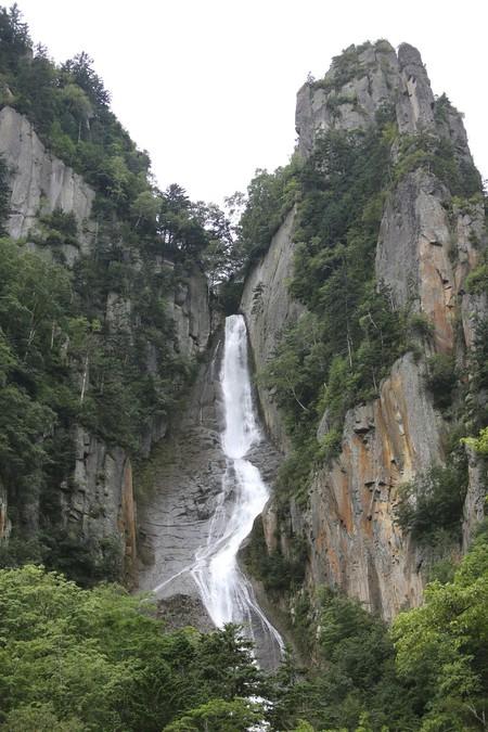소운쿄 협곡의 긴가폭포(은하폭포).