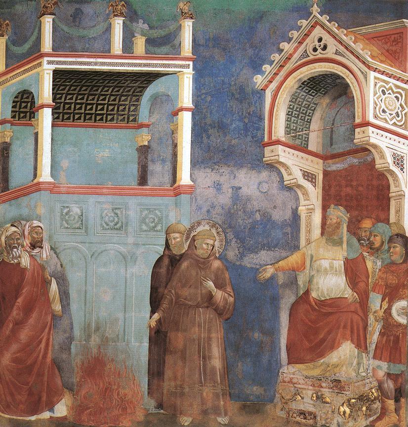 술탄 앞의 프란치스코, 지오토(1266~1337), 아시시, 성 프란치스코 대성당.