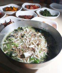 '세화해녀잠수촌'의 보말국. 박미향 기자