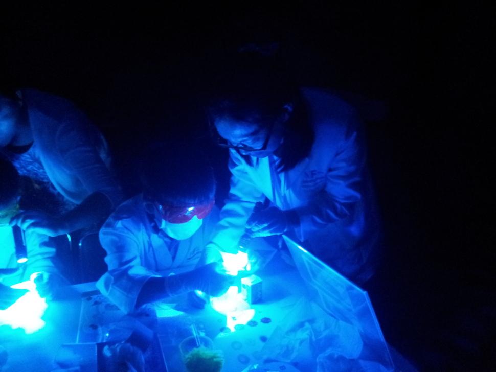 허씨가 아이들과 갔던 국립과학수사연구원의 '과학수사체험교실'