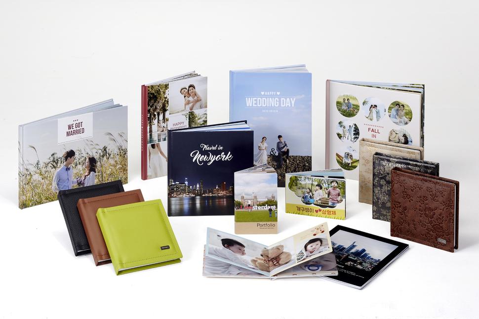 디지털 사진인화업체 '찍스'가 만드는 다양한 포토북 제품. 찍스 제공
