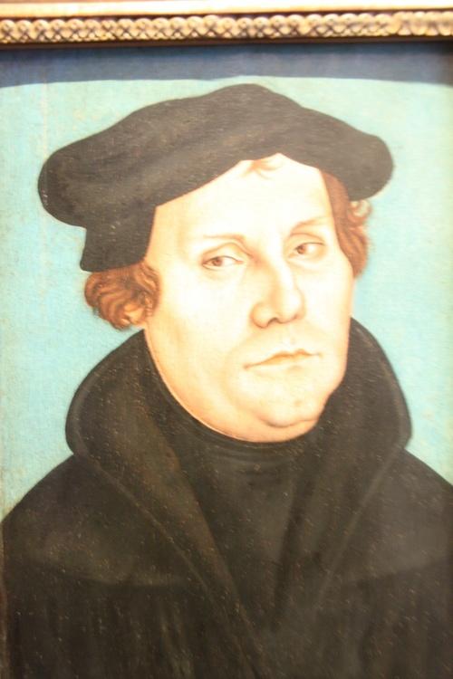종교개혁 운동가 마르틴 루터.