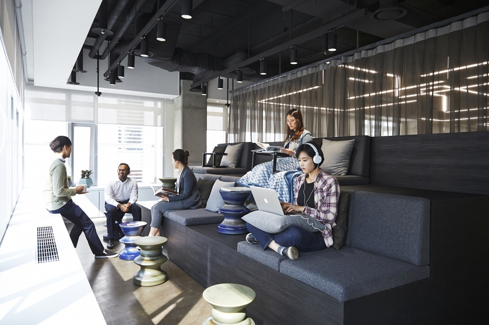 Photo] WeWork shared office space in Seoul : Business : News