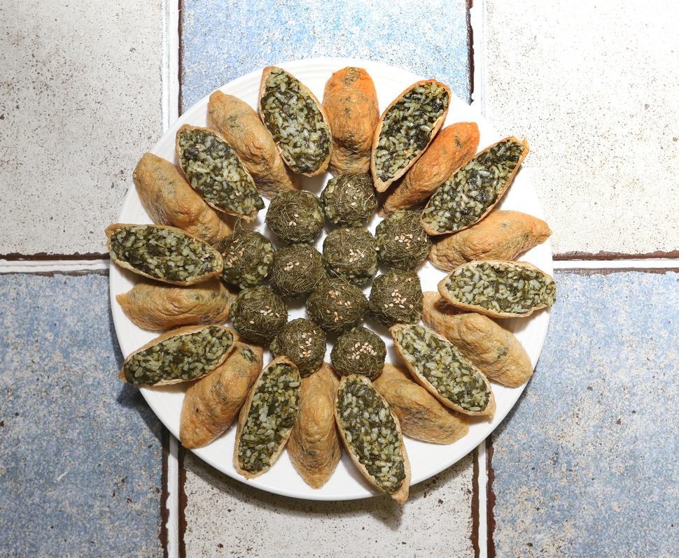 엄나물유부초밥. 박미향 기자