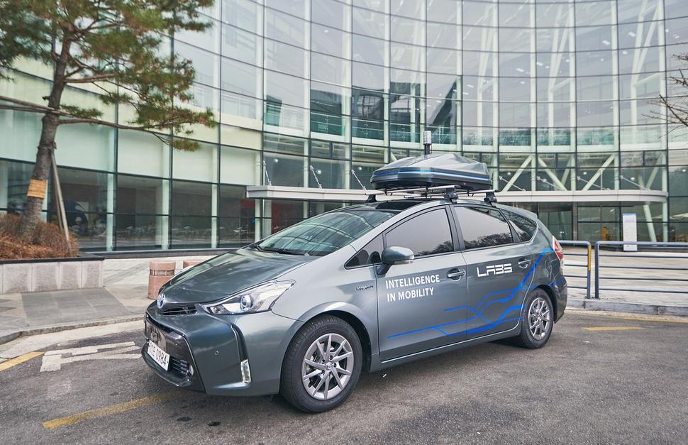 네이버의 자율주행기술 개발용 차량. 네이버 제공