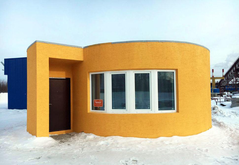 한겨울 모스크바 외곽에 들어선 3D 프린팅 하우스. 아피스 코르 제공