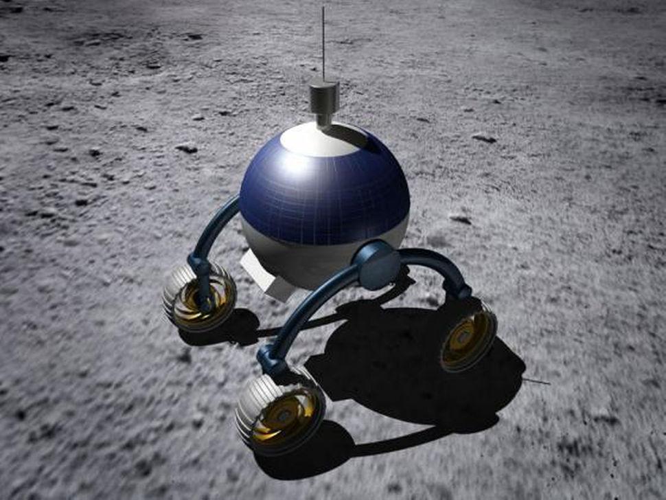 시너지문팀의 달 탐사 로버.