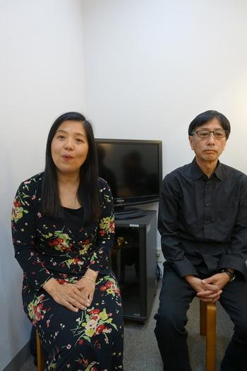 30일 일본 도쿄 한국문화원에서 영화 <가케하시> 공동 프로듀서인 나카무라 사토미(왼쪽)와 이토 시게토시(오른쪽)가 영화에 대해 이야기하고 있다.
