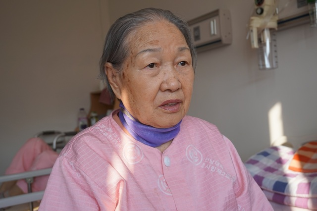 One elderly women's emotional wounds still unhealed from