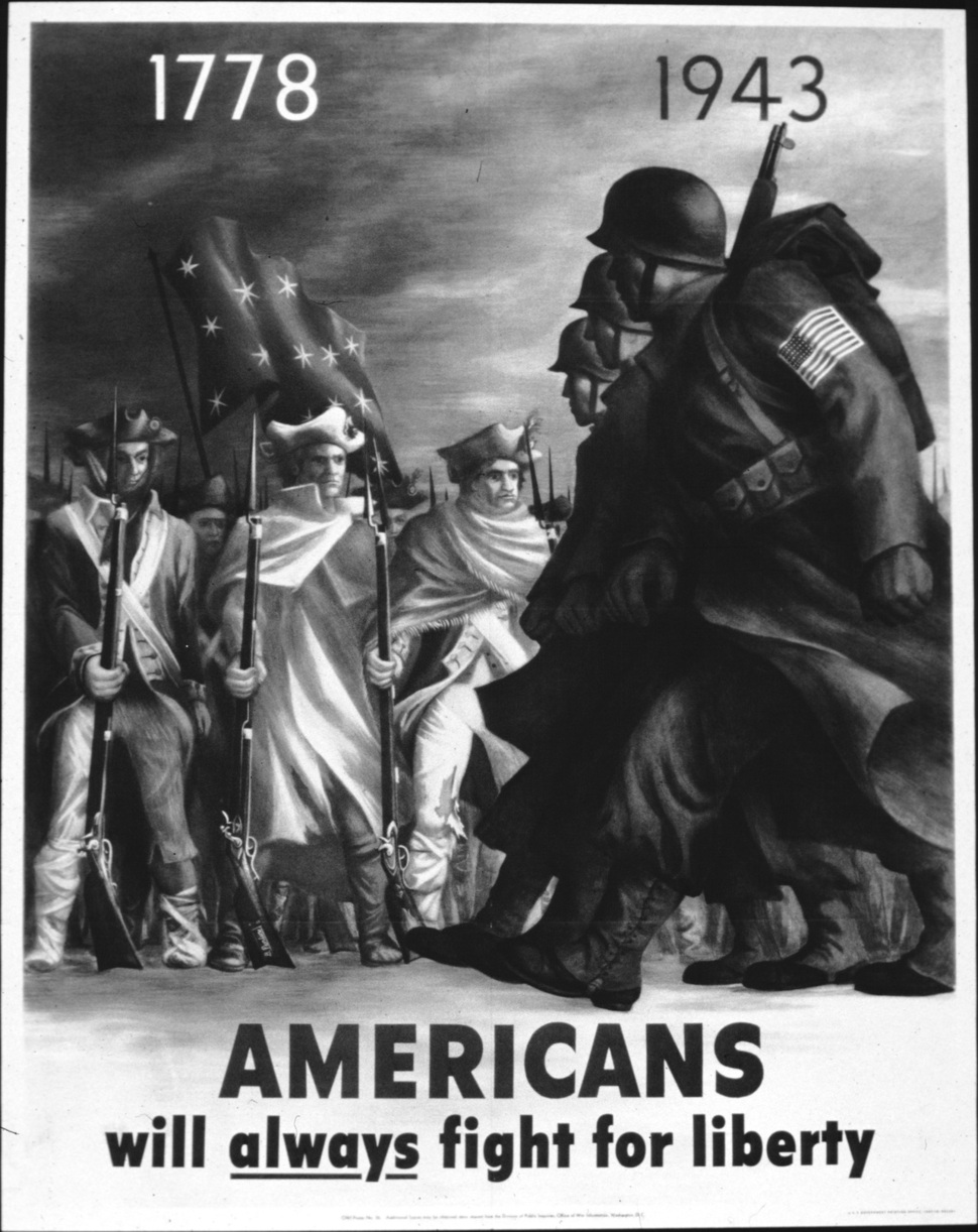 미국의 2차 대전을 독립전쟁과 같은 '자유를 위한 투쟁'으로 묘사한 포스터. 출처 워싱턴DC 문서보관소. 오월의봄 제공