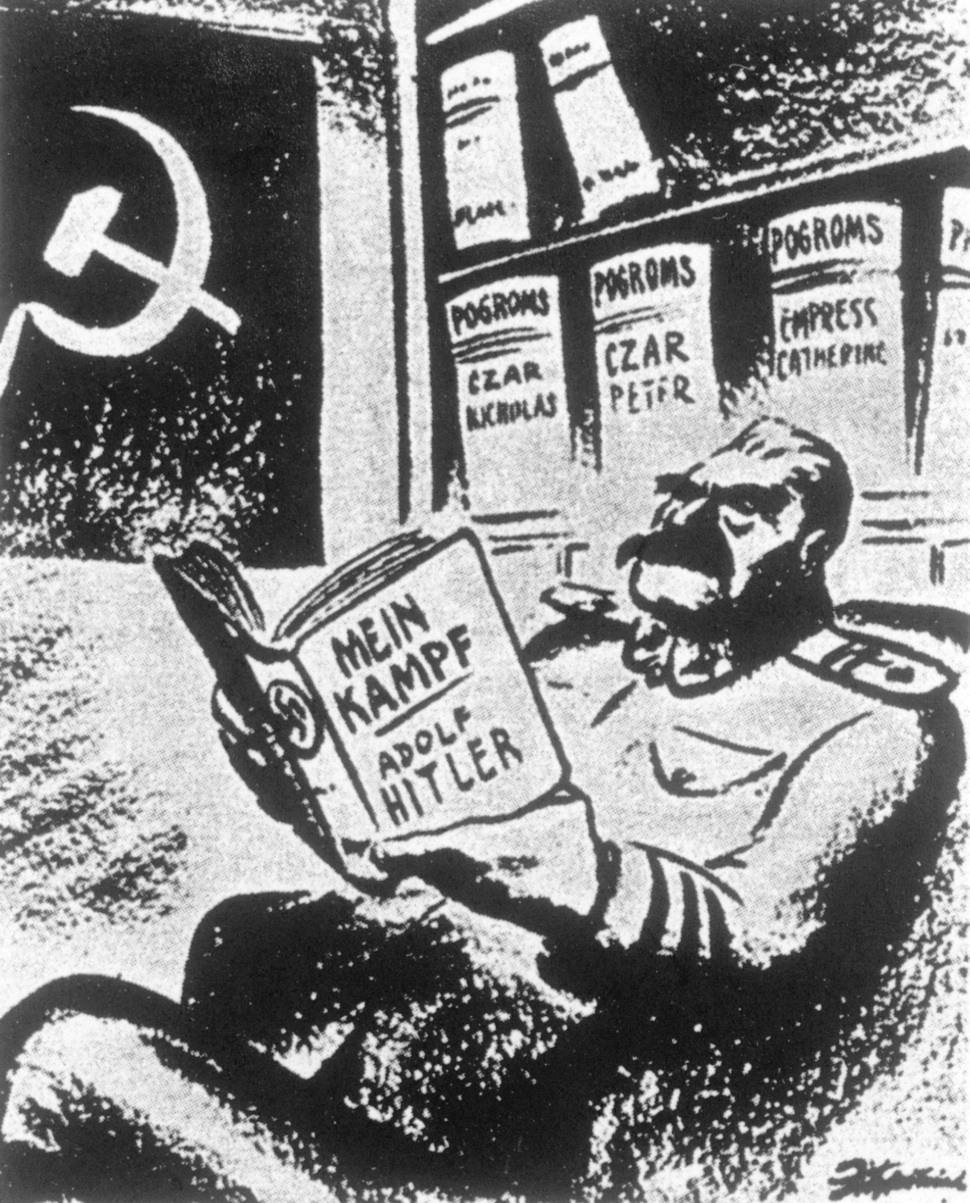 2차 대전이 끝나자 미국 미디어들은 얼마전까지 '엉클 조' 이미지로 인기 있었던 스탈린을 히틀러의 제자이자 모방자로 묘사하기 시작했다. 출처 <세인트루이스 포스트디스패치>. 오월의봄 제공.