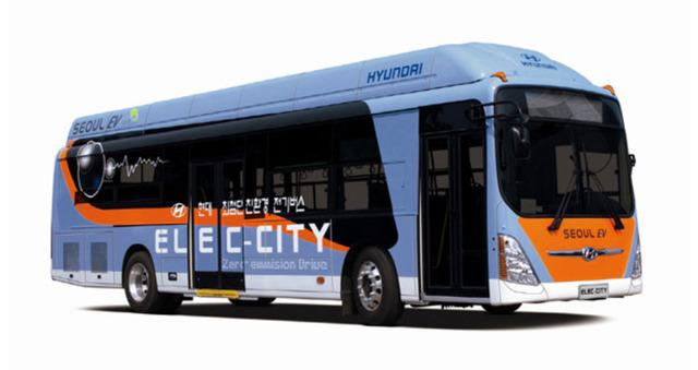 현대자동차가 2010년 개발한 전기버스 '일렉시티'. 현대차 제공