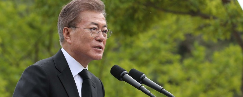ドア大統領'盧武鉉(ノ・ムヒョン)追悼の辞'省察と統合を言う