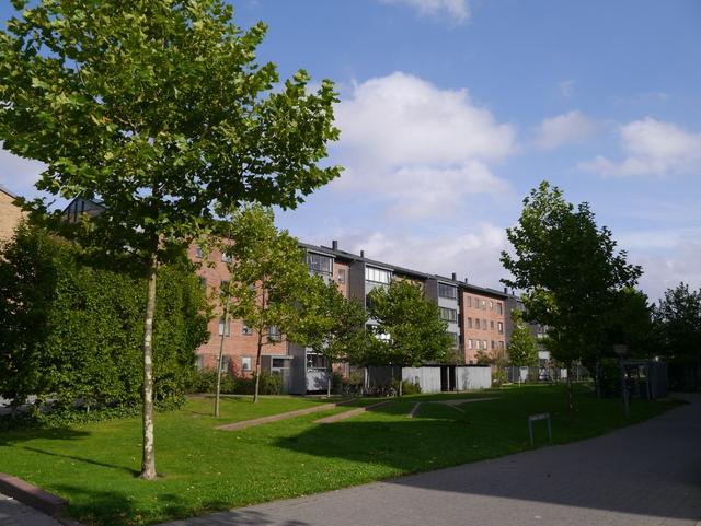 덴마크 코펜하겐시 외곽 사회주택의 모습.