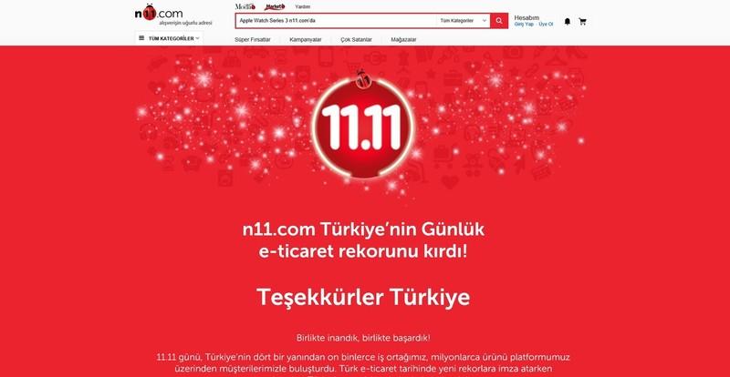 터키 11번가가 지난 11일 쇼핑 행사 '온비르 온비르'를 진행해 420억원의 거래액을 기록했다. 터키에선 최고 기록이다. 에스케이(SK)플래닛 제공