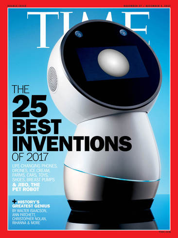 올해의 대표 발명품으로 소셜로봇 '지보'를 선정한 <타임>의 표지.