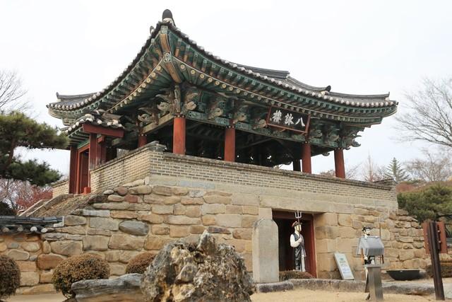 제천 청풍문화재단지의 팔영루.