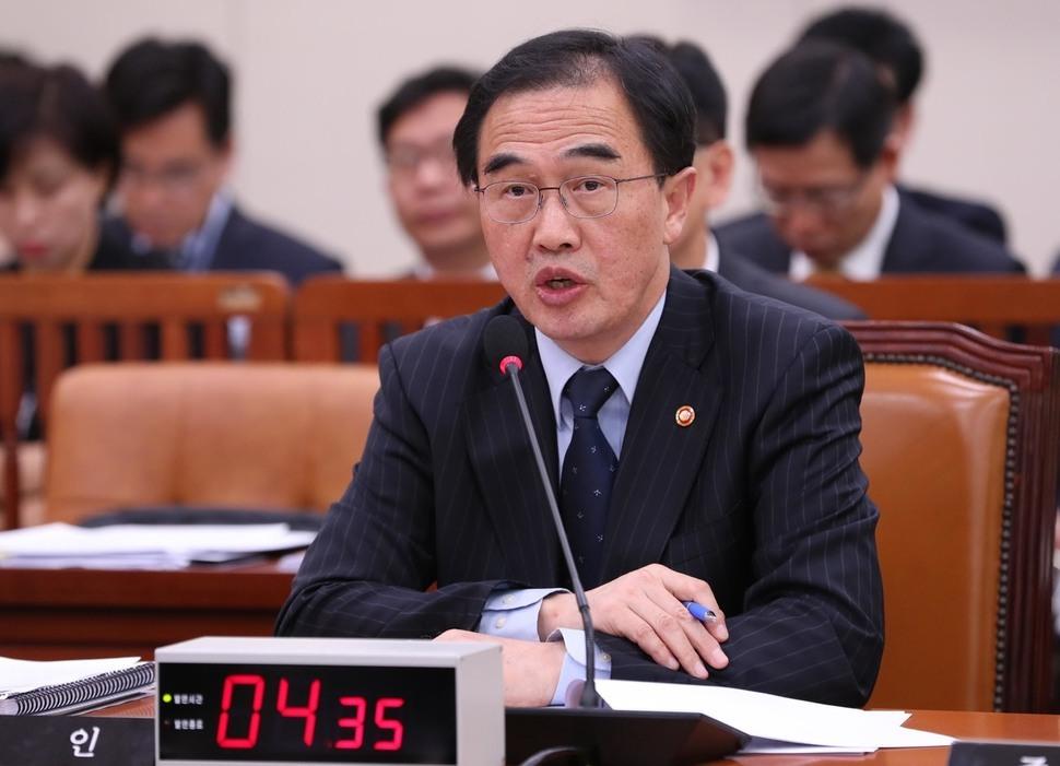 조명균 통일부 장관. 강창광 기자 chang@hani.co.kr