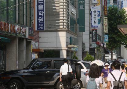 강남구 대치동 학원가 풍경. 한겨레 자료 사진