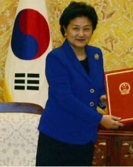 류옌둥 중국 국무원 부총리. 한겨레 자료사진