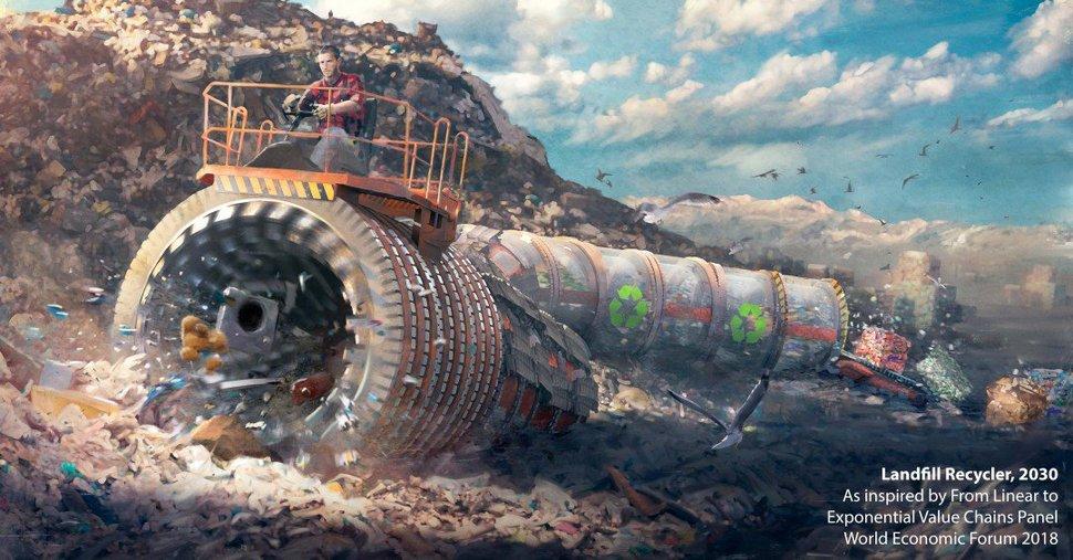203년 미래 직업 `폐기물 재활용가'. MIT테크놀로지리뷰 제공