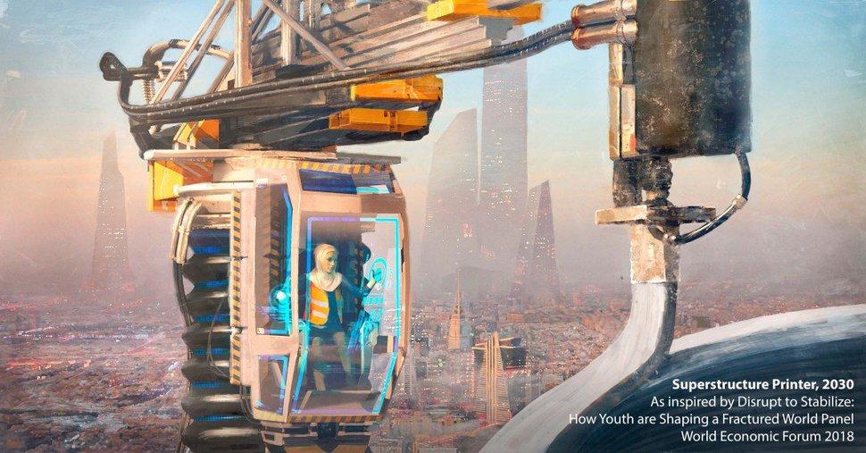 2030 미래직업 '건축 프린팅 기사'.